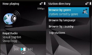 Nokia Internet Radio ShoutCast
